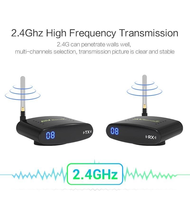Redamigo 2 4gh 150 M Sans Fil Av Transmetteur Et Recepteur Tv Radiodiffusion Audio Video Emetteur Tv Signal Recepteur 3 Rca Rte3