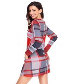 Mini robe à carreaux multicolore