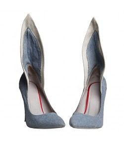 Randivie Jeans Fly Heels BLUE