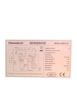 NASCO Réfrigérateur 2 Battants - 121 Litres